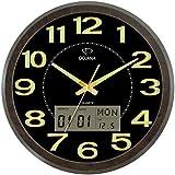 Dojana Wall Clock, Black and Brown, DWG078