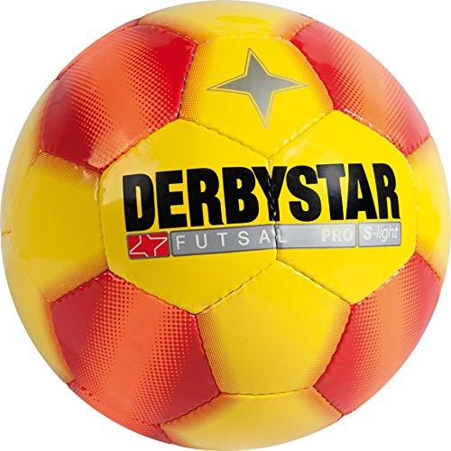 Derbystar Futsal Pro S-Light, Ball Größe 3 (290 g), gelb rot, 1087 Test