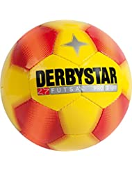 Derbystar Futsal Pro S-Light, Ball Größe 4 (290 g), gelb rot, 1087