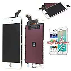 Recyco Iphone 6 Lcd Screen Display Digitizer Touch Replacement With Frame Repair For 4.7inch White Screen