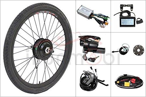 Spedizione gratuita a buon mercato bicicletta elettrica 48V 500W Ebike Bafang filettato ruota posteriore 8Fun kit di conversione motore, LCD3, controller, acceleratore, PAS, freno (71,1cm)