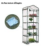 awhao Serre de Jardin Bâche PVC Transparente pour Étagère Balcon Terrasse (Sans Étagère) (C: 69 * 49 * 187 cm)