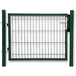 Gartentür zum Doppelstabmattenzaun grün - Höhe 100 cm/Breite 100 cm Pforte Tor Zaun-Tür eingangs-Tür