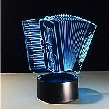 Akkordeon 3D Led Lampe Bunte Note Visuelles Licht Kreative 3D Schreibtisch Schlafzimmer Schlaf Beleuchtung Kind Geburtstag Weihnachten Geschenke