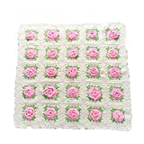 VA-babyproduct Cubierta de enfermería Baby Pink Flower Chunky Knit Throw Mantas Súper Bulky Suave Braid Warm Knit Rug Couch Bed Lounge Home Decorador Estera (Color : Light Khaki, tamaño : 65x70cm)
