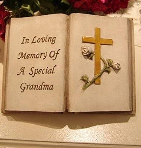 In Loving Memory of a Special Grandma Memorial open book