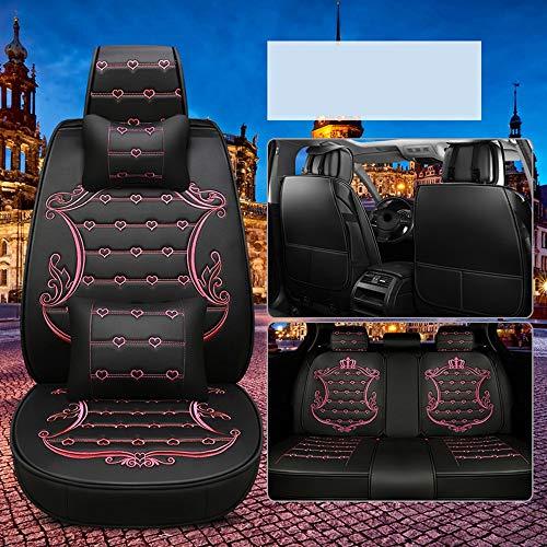 SHIYUPING Autositzbezüge Four Seasons Sweatproof Seat Belt Protector - Bester Rutschfester Lederautositzschutz - Perfekt for Fitnessstudio, Strand, Laufen und Haustiere (Color : Black-pink-1) -
