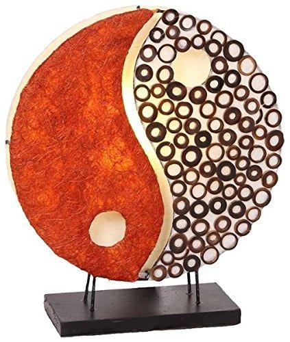 NG, rund, Natur-Material, 30 cm Durchmesser, Stimmungsleuchte, kleine Tischlampe ()