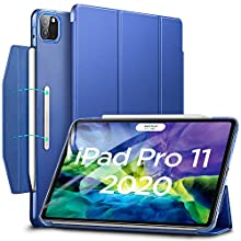 ESR Case for iPad Pro 11 2020 & 2018,Yippee Trifold Smart Case with Auto Sleep/Wake, Lightweight Stand Case with Clasp, Hard Back Cover,Navy Blue