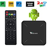 Sofobod TX3 MINI 7.1.2 smart TV BOX 2GB/16GB 4K TV Amlogic S905W Quad core H.265 Decoding 2.4GHz WiFi - 2GB/16GB