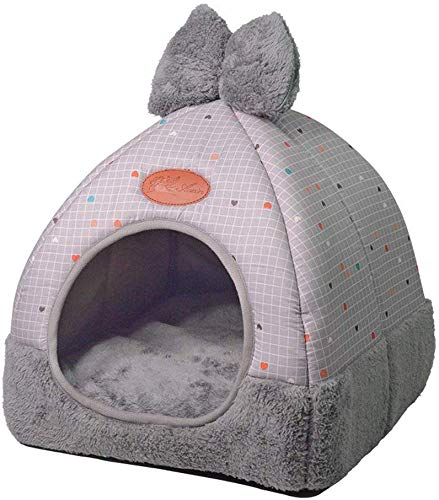 AFDK Cat Den in Igloo 2 1 Plegable Cat Cave Cama acogedora