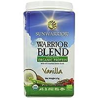 SunWarrior Warrior Blend Raw Protein Vanilla 1kg (Vanilla, 1 Kg (Pack of 3))