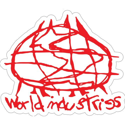 Scribble Logo Aufkleber 25Stück (10,2cm) (World Industries Aufkleber)
