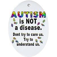 CafePress–Autismo non è una malattia. Ovale, vacanza decorazione natalizia