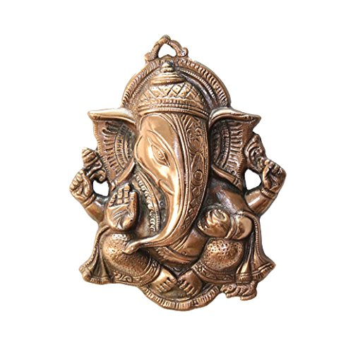 APKAMART Lord Ganesh Wall Hanging 10 Inch - Handcrafted Metal Hanging Article for Wall Decor, Room Decor, Home Decor and Gifts