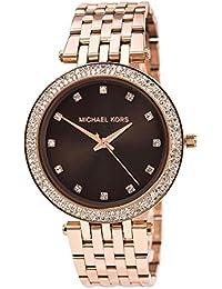 Michael Kors MK3217 - Reloj con correa de acero para mujer, color marrón / gris