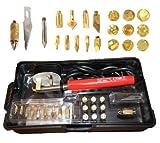 Nueva 22pc pyrograpy 30W soldador de combustión de madera herramienta Set Kit comercialización puntas de latón