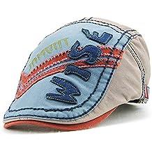 Tioamy Enfant Casquette Plate Bambin Chapeau Gavroche Garçon Fille Flatcap  Bébé Cap Coton Bonnet Béret Chapeau 2a2391f9e5a