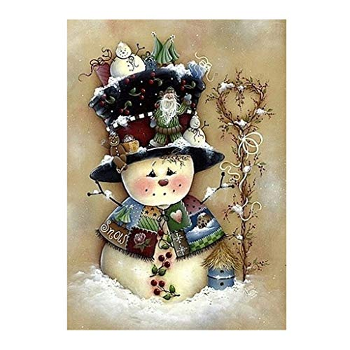 Fogun Schneemann 5D DIY Full Diamond Painting Stickerei Cross Crafts Stitch Home Decor