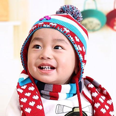 WJP sciarpa Hat guanti tre Kit pezzo coreano Onda a mano moda inverno cute calda lana lavorata a maglia cappelli insiemi W-429