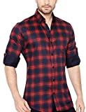 #4: GlobalRang Mens Checks Stylish Casual Shirt