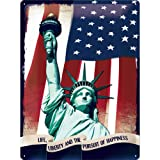Nostalgic-Art 23120 USA Statue of Liberty, Blechschild, 30 x 40 cm