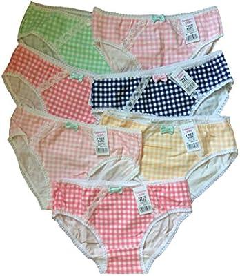 Las niñas adolescentes Ropa interior Paquete de 7 Color mezclado calzoncillos/Braguitas (146-176) (una talla única para los 11-16 años).