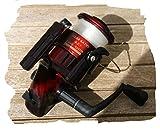 moulenet FG 90der Fischerei schwarz und rot Tech-Premium High Speed 4,5: 1Bericht Zahnradgetriebe, mit Fäden pfirsichfarben Meer Fluss