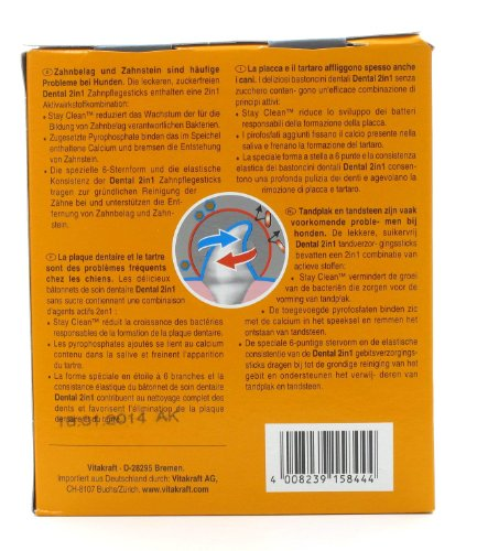 Vitakraft Dental 3in1 Multipack – Zahnpflege-Snack für Hunde ab 10 kg – 16x 7 Sticks - 2