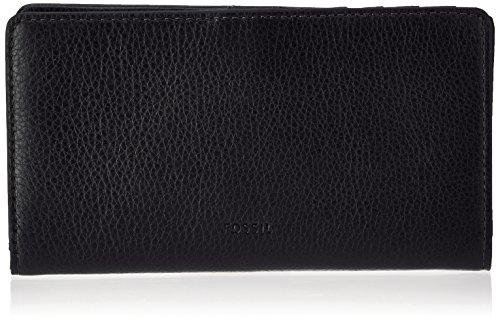 e Geldbörse, Schwarz (Black), 2.5x10x17 cm (Fossil Geldbörse Für Frauen Schwarz)