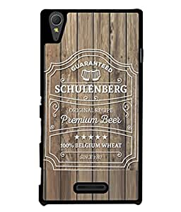 Fuson Designer Back Case Cover for Sony Xperia T3 (Wood Lakadi Antique Fashion Beer Dark Grey )
