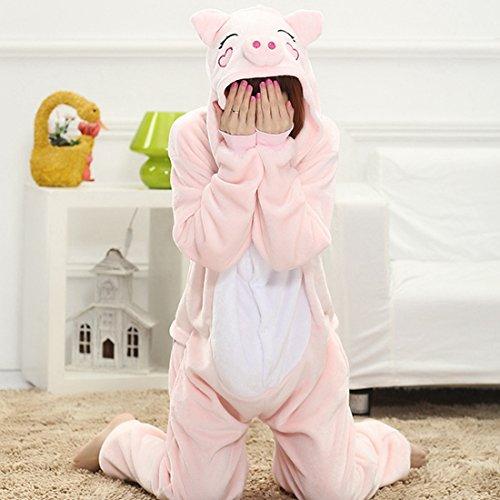 Imagen de kigurumi pijamas unisexo adulto traje disfraz adulto animal pyjamas iflife m para altura 159 168cm , cerdo rosa  alternativa