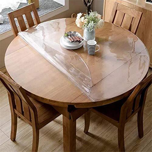 Rund 110 cmTischfolie Glasklar Tischschutz PVC Tischdecke Transparente Schutzfolie Dick - 1,8 mm (in Allen Größen erhältlich)