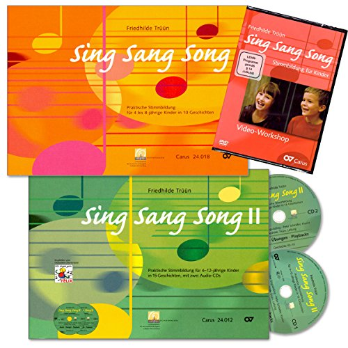 Sing Sang Song - Komplettpaket Stimmbildung für Kinder mit 2 CDs und Video-Workshop-DVD von Friedhilde Trüün - HINWEIS! Lehrprogramm/Lehrvideo gemäß §14 JuschG