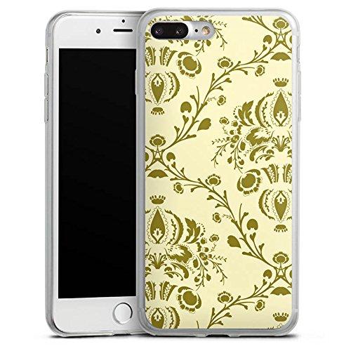 Apple iPhone X Slim Case Silikon Hülle Schutzhülle Ornamente Muster Retro Silikon Slim Case transparent