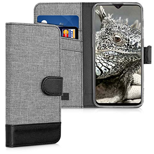 kwmobile OnePlus 6T Hülle - Kunstleder Wallet Case für OnePlus 6T mit Kartenfächern und Stand