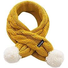7ea8acb5ae313 Malloom Niños de invierno de lana de punto babero bufanda Niños niños Niños  y niñas de
