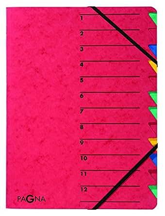 Pagna Ordnungsmappe Easy (Sammelmappe, 12 Fächer, 1-12) rot