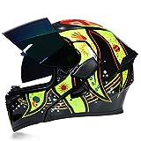 QianXuJi Casque Moto Flip Up Hiver TY Racing Dirt Bike Helmet c5 XXL