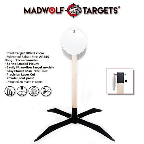 Tactical Stahl Target Gong 25 cm. Tactical Ziel für Shooting. Diana Scheibenkasten aus Edelstahl.-Metall-Pack Steel Target