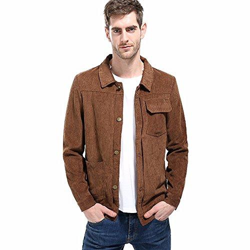 Homebaby giacca di velluto a coste da uomo cotone casuale cardigan cappotto militare pullover maglione caldo sportiva manica lunga camicia maglia autunno inverno abbigliamento