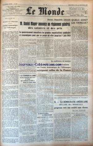 MONDE (LE) [No 890] du 07/12/1947 - L&#3...