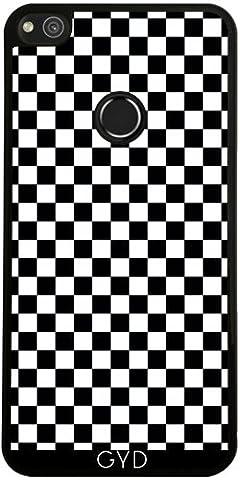 Coque pour Huawei P8 Lite 2017 - Noir Damier Blanc by Djuranne