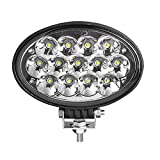 MARSLED 1 pieza 6,5 pulgadas 13 x 5 W 5850 lm ovalado LED luz de trabajo de alta potencia lámparas de trabajo para tractores agrícolas vehículos pesados máquinas de construcción (haz de punto)