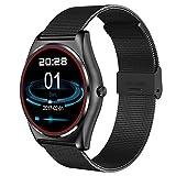 Lemumu N3 Herzfrequenz-Messgerät Bluetooth Smart Watch drahtlose Aufladen Support anrufen Erinnerung Fitness schwarz Smart Watch, Schwarz