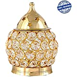 Neelam Ratna Brass Diamond Nag Deep Akhand Crystal Diya Oil Lamp | Decorative Brass Crystal Oil Lamp | Tea Light Holder Lantern | Puja Lamp