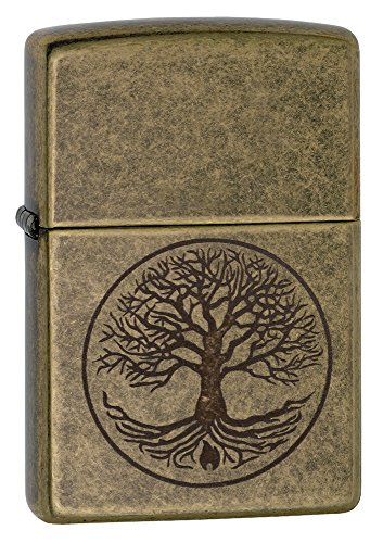 Its the Zippo tree of life. A growing tree decorates this Antique Brass lighter through the Lustre process, a small Zippo flame within its roots. Comes packaged in an environmentally friendly gift box. For optimum performance, use with Zippo premium ...