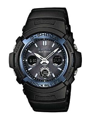 Reloj Casio AWG-M100A-1AER y digital de cuarzo para hombre con correa de resina, color negro de Casio