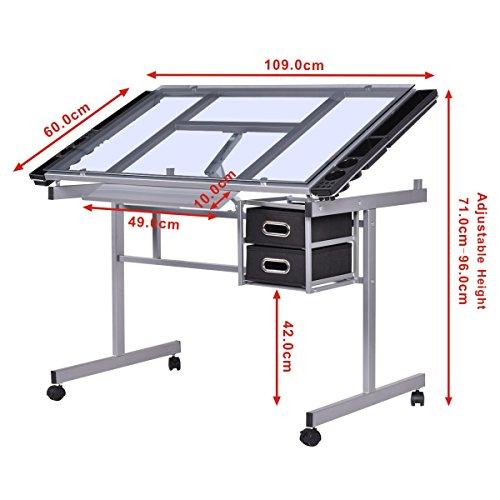 Glastisch mit schublade bestseller shop f r m bel und einrichtungen - Glastisch mit schublade ...