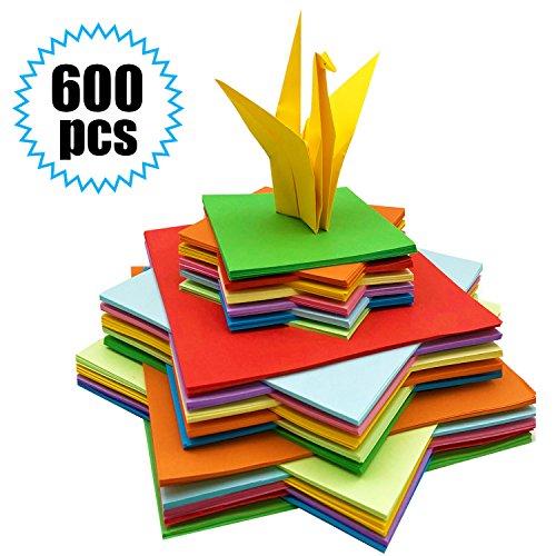 Origami Papier - 600 Blatt Origami-Papier Origami Faltpapier Buntes Papier Quadratisches Doppelseite Bastelpapier für Origami und Bastelprojekte